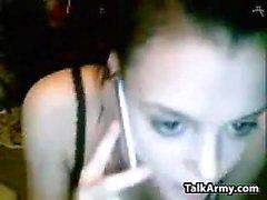 Webcam Slut With A Banana