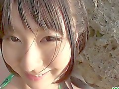 Megumi di Haruka giovane e lavoro la mano asiatici e il blowjo