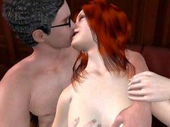 Harry Potter Animierte 3D Sex Porn - Ruhige Nacht in der Bibliothek