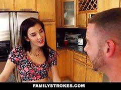 FamilyStrokes - as irmãs Tease e foda o irmão da etapa