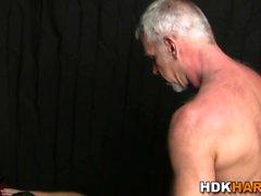 Kinky hunk rides cock raw