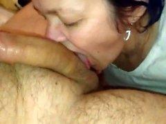 Homemade mature amateur slut doing a big cock