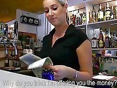 Sweet bartender Lenka fucked during work