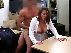 Busty gal fucked for some pawnshop deal