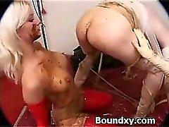 Spandex Fetiş Slut Wildly Caned