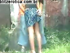 Hot dating with the girl on the street, lifting her skirt