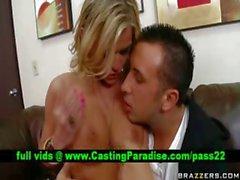 Mckenzee Miles busty blonde blowjobs huge dick
