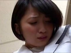 Okul üniformalı Riku Minato seksi Asyalı genç POV yapar