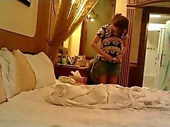 FOMIN chineses grande do Boobs do num hotel de