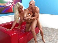 Lovely blonde Bridgette B sucking cock