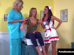 Swedish Fox Puma Swede & Nicole Aniston Get Wet Pussy Exams!