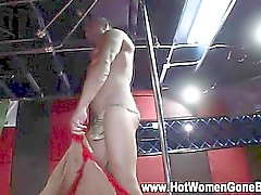 Cfnm black chick suck stripper cock