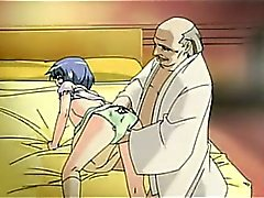 Cattivo uomo si scopa con una ragazza eccitata