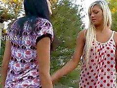 Lesbian girls spread vagina holes