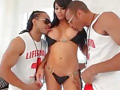 Shemale Described Video - Asian TS Eva Lin Enjoys 2 Big Black Cocks