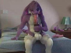Furry Creature etwas Spaß mit dem Mund zu haben