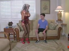 Hot Cougar Fucks A Young Guy