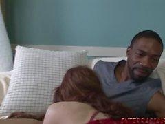 Redhead Anne Mae o büyük siyah horoz almak için sabırsızlanıyorum