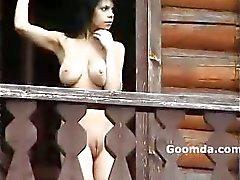 Alena blinkande Susdal balkong visar två