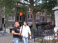 Голландский проститутка жует сперму