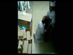 Recording Bäckerei mitarbeiter durch die Sicherheits-Cam