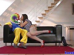 Glamcore reife Euro Prostituierte Stampf grobe vom Clowns