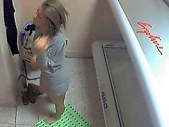 Voyeur ragazza nuda che di a Ostrava un solarium la visita PIENO Sezione parziale 004 di