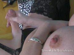 Olivia Love Shemale Dildo Blowjob and Anal Tranny Sucking Vibrator