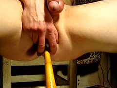 Favourite toy insertion, pain and pleasure