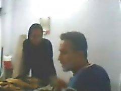 Arab Amateur sex at work