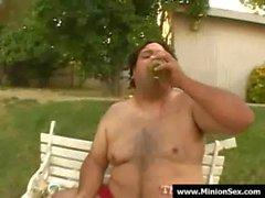 El Monion - de grasa del individuo hembras En El Pecho y la comida de amor 14 de