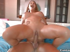 Cathy Heaven banged hard by a lucky Guy