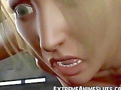 Alien eikels 3D Busty meisje !