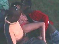 Wife milf Takes Blacks In The Park