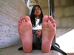 Cute Indian teen has sweet feet
