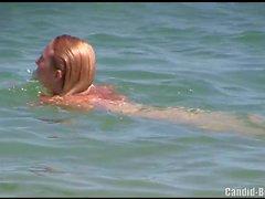 Voyeur Пляж нудистов Amateur бритая киска Milfs Spycam