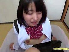 Milf in school girl uniform does pov