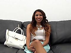 Amateur Latina gets first cock n toy DP