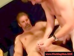 Gaystraight hairy karhut tugging cock