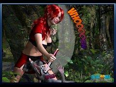 BD en 3D : Crimson Sonja 1