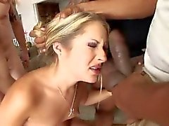Hot Blonde Teen Chelsie Rae Gangbanged