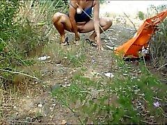 ulkokäyttöön itsetyydytys sekä ruiskuta rannalla jonka Montsita