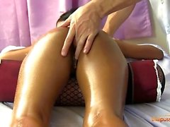 Nongnuch pays for her massage with a creampie