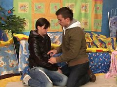 Hot teen gets fingered and creamed
