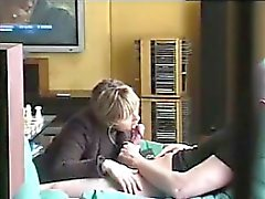 Blonde Chick Recorded Giving A Blowjob