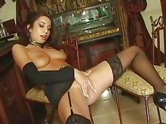Tiffany Taylor fucks like a pro in sexy lingerie and heels