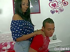 Sultry latiina mom Carla with huge tits