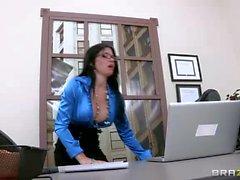Rebeca Linares' co-worker Jordan Ash knows that she's slut. He