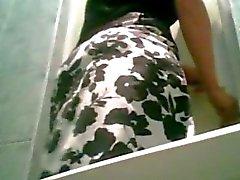 Pantyhose Pissa spionkamera på bröllop Toalett