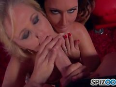 Jessica Jaymes and Julia Ann - Blowjob